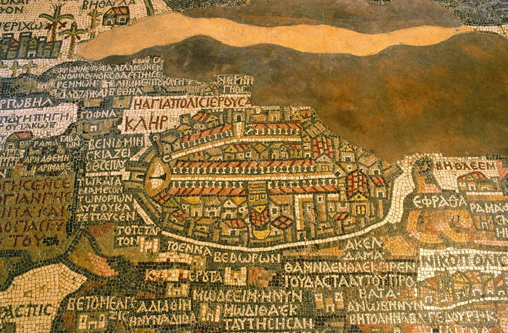 Mosaikkarte in Madaba, Jordanien