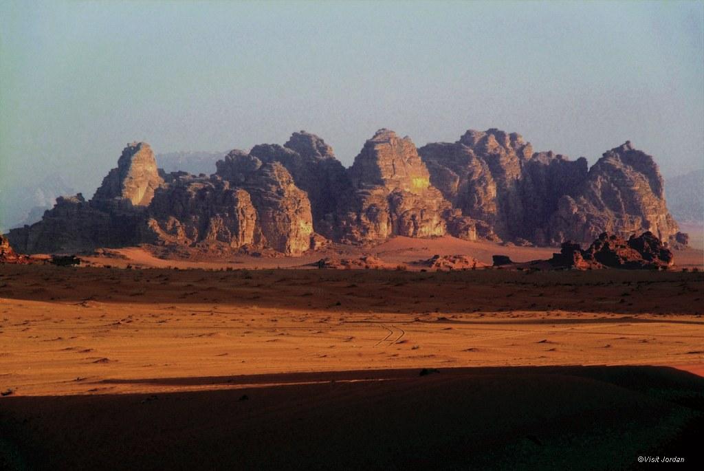 die Weiten des Wadi Rum, Jordanien