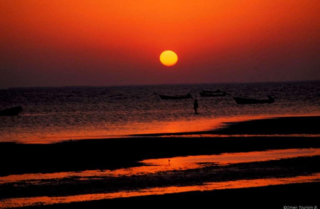 Sonnenuntergang am Strand, Oman
