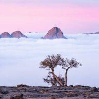 Landschaft am Jebel Shams im Oman