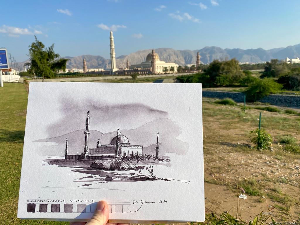 Sultan Qaboos Moschee, Malreise Oman 2020