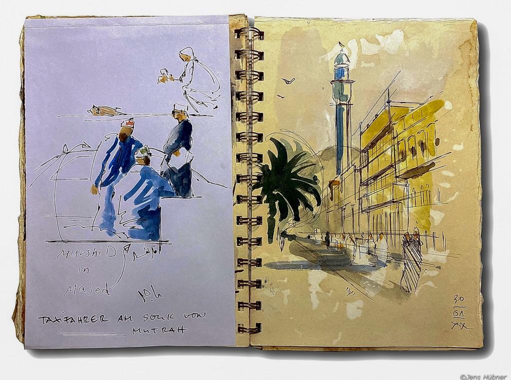 Malen mit Jens Hübner in Muscat