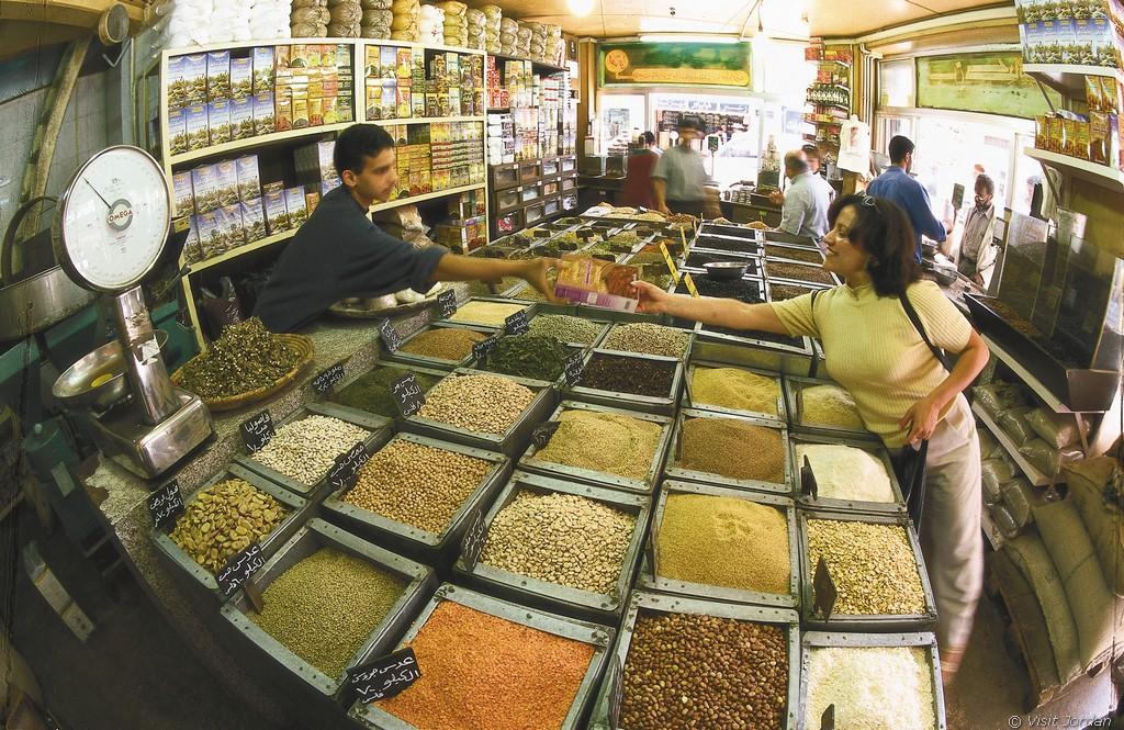 Gewürzhändler in Amman Jordanien